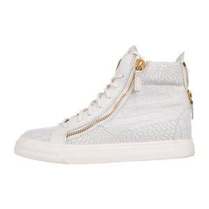 GIUSEPPE ZANOTTI - Leather High-Top Sneakers